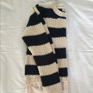 Navy and White Nautical Striped sweater